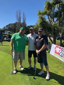 Three guests at Golf2Cure